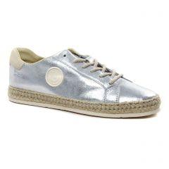 Chaussures femme été 2021 - tennis Pataugas gris argent