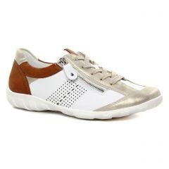 Chaussures femme été 2021 - tennis Remonte blanc multi