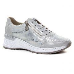 baskets-mode gris metal: même style de chaussures en ligne pour femmes que les Rieker