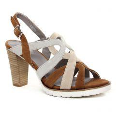 nu-pieds-talons-hauts marron multi: même style de chaussures en ligne pour femmes que les Regarde Le Ciel