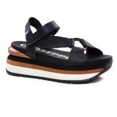nu-pieds-talons-compenses noir: même style de chaussures en ligne pour femmes que les Gioseppo
