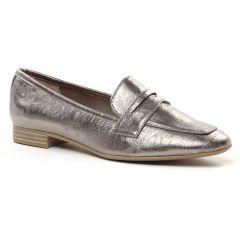 mocassins beige bronze: même style de chaussures en ligne pour femmes que les Scarlatine