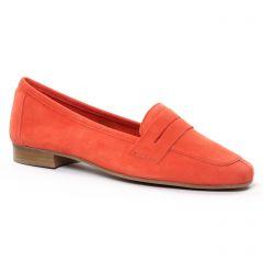 Chaussures femme été 2021 - mocassins Scarlatine rouge orange