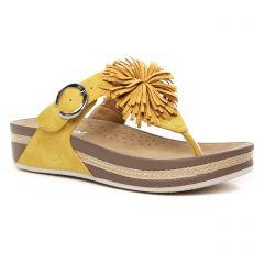mules jaune: même style de chaussures en ligne pour femmes que les Rieker