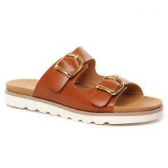 Chaussures femme été 2021 - mules Scarlatine marron
