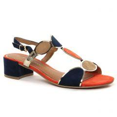 Chaussures femme été 2021 - sandales marco tozzi bleu marine