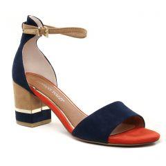 Chaussures femme été 2021 - nu-pieds marco tozzi bleu marine