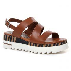 sandales-compensees marron: même style de chaussures en ligne pour femmes que les Marco Tozzi