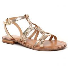 nu-pieds-sandales beige doré: même style de chaussures en ligne pour femmes que les Les Tropéziennes