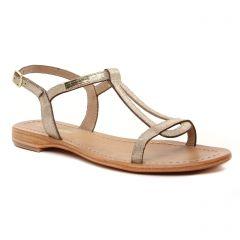 Chaussures femme été 2021 - sandales les tropéziennes beige doré