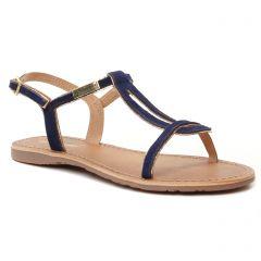 Chaussures femme été 2021 - sandales les tropéziennes bleu marine