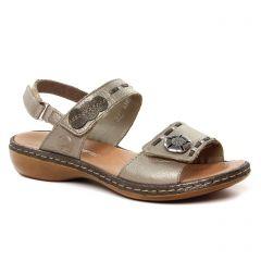 nu-pieds-sandales gris bronze: même style de chaussures en ligne pour femmes que les Rieker
