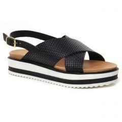 Chaussures femme été 2021 - sandales compensées Scarlatine noir