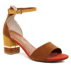 Chaussures femme été 2021 - nu-pieds marco tozzi marron multi