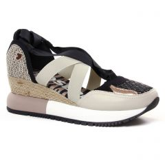 Chaussures femme été 2021 - sandales compensées Gioseppo multicolore