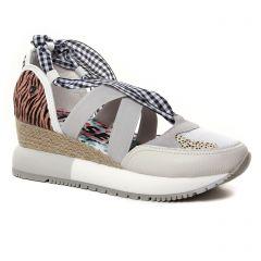 nu-pieds-talons-compenses multicolore: même style de chaussures en ligne pour femmes que les Gioseppo