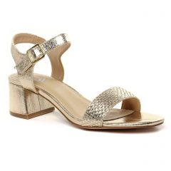 Chaussures femme été 2021 - nu-pieds talon Vanessa Wu beige doré