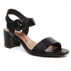 nu-pieds-talon noir: même style de chaussures en ligne pour femmes que les Tamaris