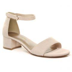 nu-pieds-talon rose pale: même style de chaussures en ligne pour femmes que les Tamaris