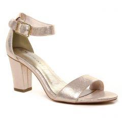 nu-pieds-talons-hauts beige doré: même style de chaussures en ligne pour femmes que les Tamaris