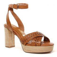 nu-pieds-talons-hauts marron: même style de chaussures en ligne pour femmes que les Tamaris