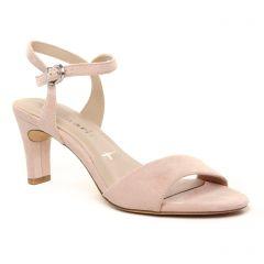 nu-pieds-talons-hauts rose poudré: même style de chaussures en ligne pour femmes que les Tamaris