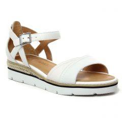 Chaussures femme été 2021 - sandales compensées Émilie Karston blanc