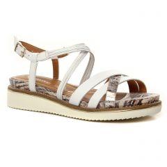 sandales-compensees blanc: même style de chaussures en ligne pour femmes que les Tamaris