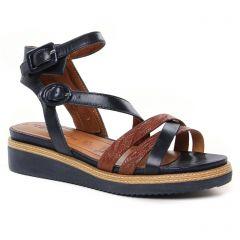 sandales-compensees bleu marine: même style de chaussures en ligne pour femmes que les Tamaris