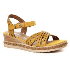 sandales-compensees jaune: même style de chaussures en ligne pour femmes que les Remonte