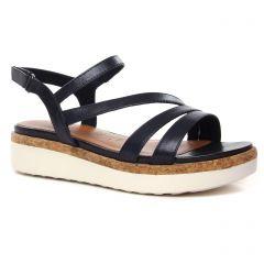 Chaussures femme été 2021 - sandales compensées tamaris marine