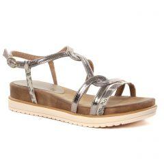 Chaussures femme été 2021 - sandales compensées tamaris marron léopard