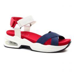 Chaussures femme été 2021 - sandales compensées Xti bleu rouge