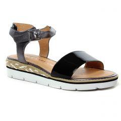 sandales-compensees noir: même style de chaussures en ligne pour femmes que les Émilie Karston