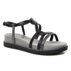 Chaussures femme été 2021 - sandales compensées tamaris noir