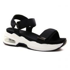 sandales-compensees noir: même style de chaussures en ligne pour femmes que les Tamaris