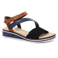 sandales-compensees marine noir marron: même style de chaussures en ligne pour femmes que les Xti