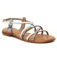 Chaussures femme été 2021 - sandales les tropéziennes blanc multi