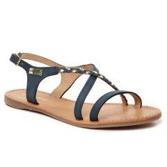 sandales-plates bleu or: même style de chaussures en ligne pour femmes que les Tamaris