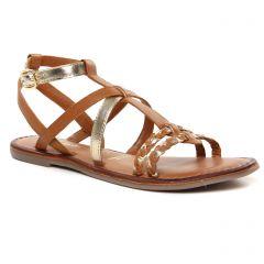 Chaussures femme été 2021 - Sandales Plates tamaris marron doré