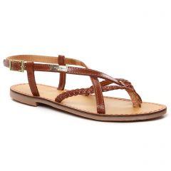 Chaussures femme été 2021 - Sandales Plates les tropéziennes marron