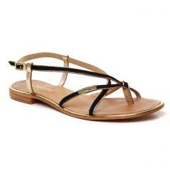 sandales-plates noir: même style de chaussures en ligne pour femmes que les Émilie Karston