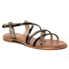 sandales noir multi: même style de chaussures en ligne pour femmes que les Caprice
