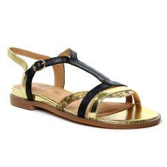 sandales-plates noir or: même style de chaussures en ligne pour femmes que les Émilie Karston