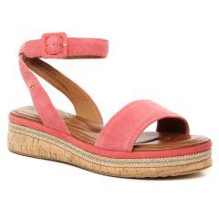 Chaussures femme été 2021 - sandales compensées tamaris rose