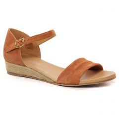 Chaussures femme été 2021 - espadrilles compensées Scarlatine marron