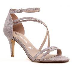 nu-pieds-talons-hauts rose multi: même style de chaussures en ligne pour femmes que les Tamaris