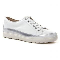 tennis blanc argent: même style de chaussures en ligne pour femmes que les Caprice