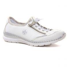 tennis blanc argent: même style de chaussures en ligne pour femmes que les Rieker