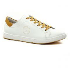 Chaussures femme été 2021 - tennis Pataugas blanc cognac